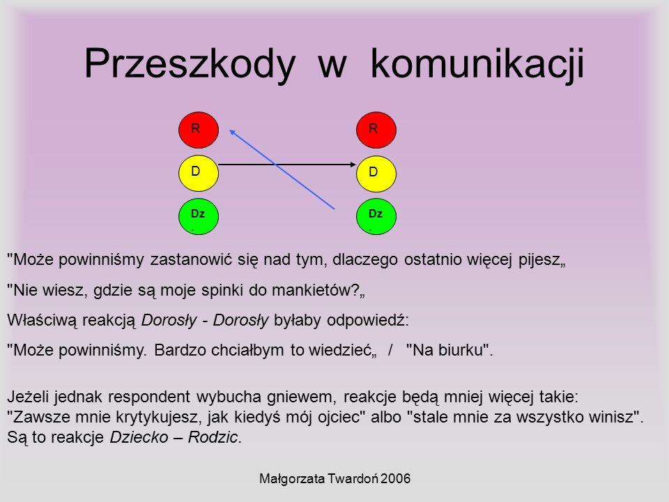 Małgorzata Twardoń 2006 Przeszkody w komunikacji D Dz. R D R