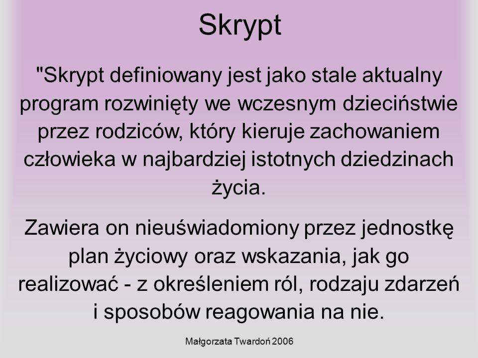 Małgorzata Twardoń 2006 Skrypt