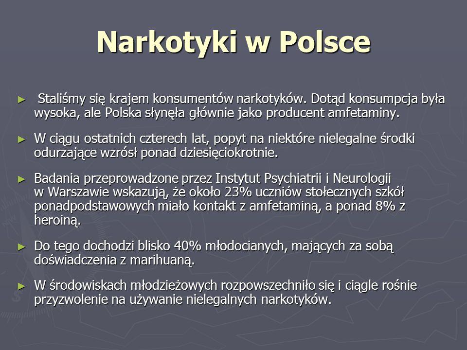 Narkotyki w Polsce ► Staliśmy się krajem konsumentów narkotyków.