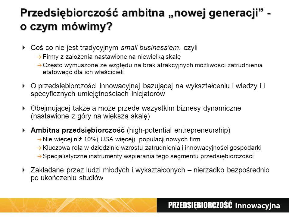 """Przedsiębiorczość ambitna """"nowej generacji - o czym mówimy."""
