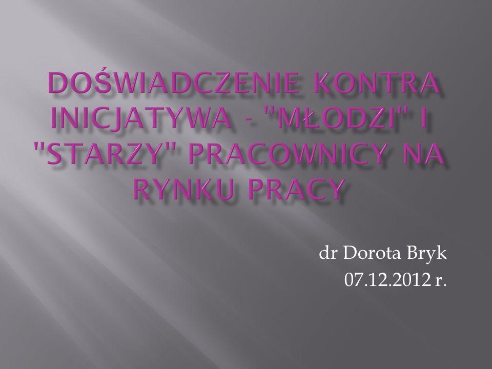 dr Dorota Bryk 07.12.2012 r.