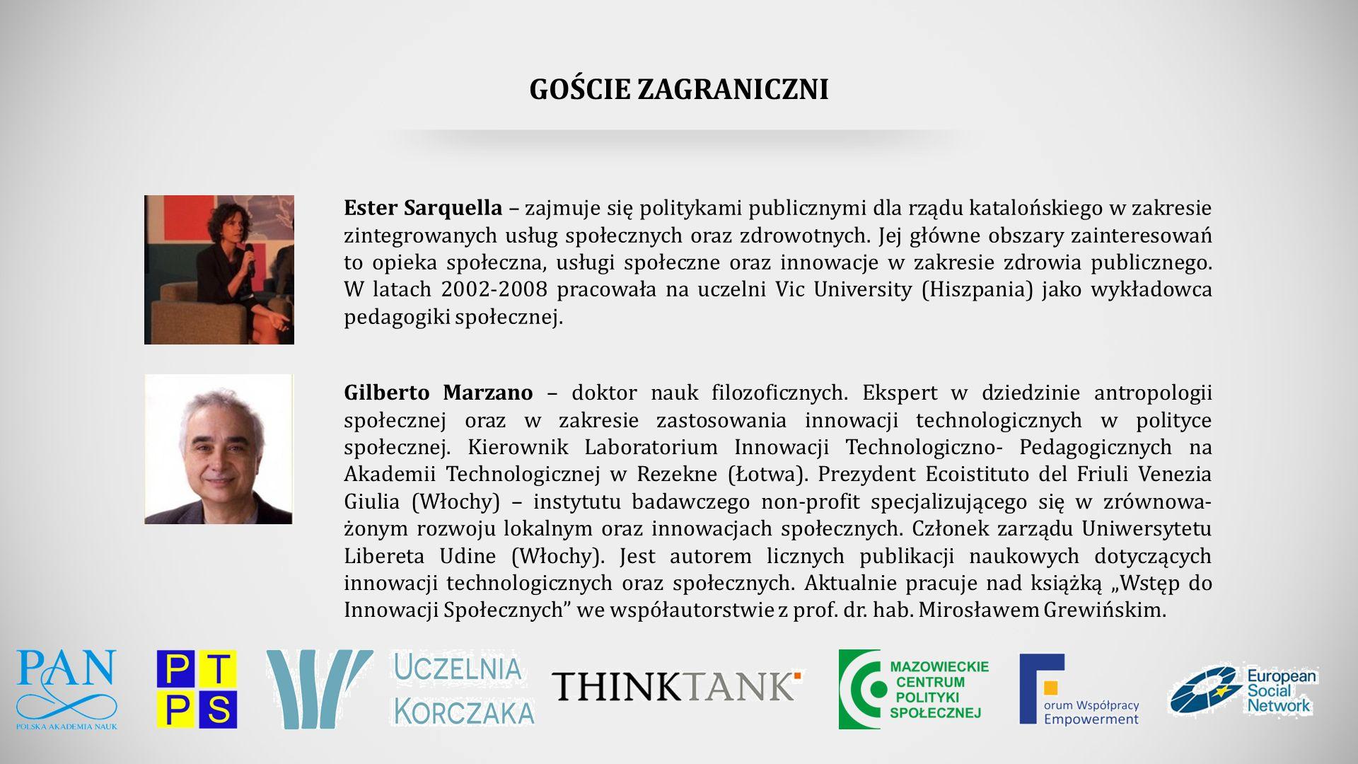 GOŚCIE ZAGRANICZNI Gilberto Marzano – doktor nauk filozoficznych.