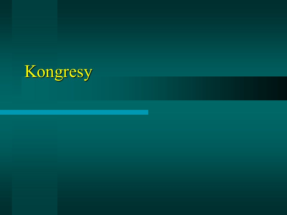 Kongresy