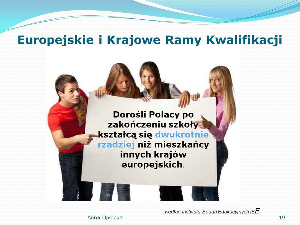 Europejskie i Krajowe Ramy Kwalifikacji Dorośli Polacy po zakończeniu szkoły kształcą się dwukrotnie rzadziej niż mieszkańcy innych krajów europejskich.