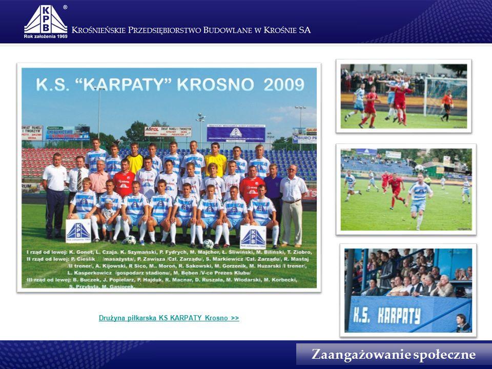 Zaangażowanie społeczne Drużyna piłkarska KS KARPATY Krosno >>