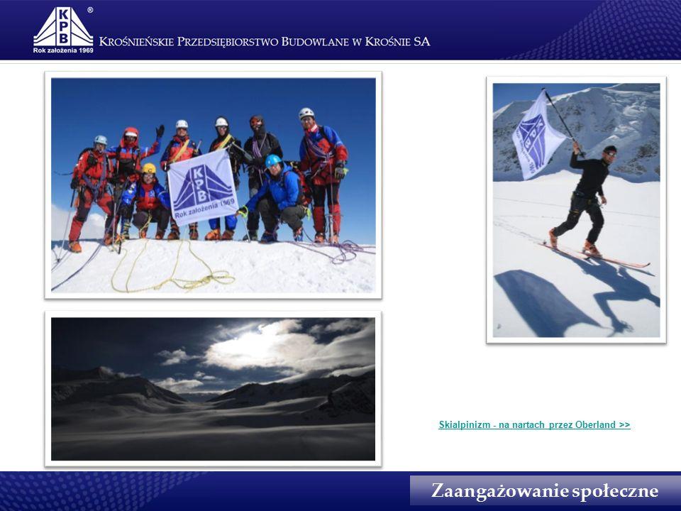 Zaangażowanie społeczne Skialpinizm - na nartach przez Oberland >>