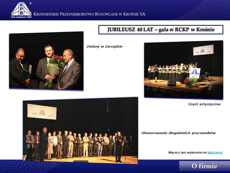 Zmiany w Zarządzie Część artystyczna Uhonorowanie długoletnich pracowników Więcej o tym wydarzeniu na kpb.com.plkpb.com.pl O firmie