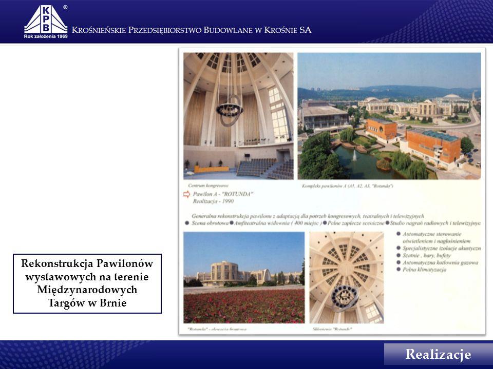 Rekonstrukcja Pawilonów wystawowych na terenie Międzynarodowych Targów w Brnie Realizacje