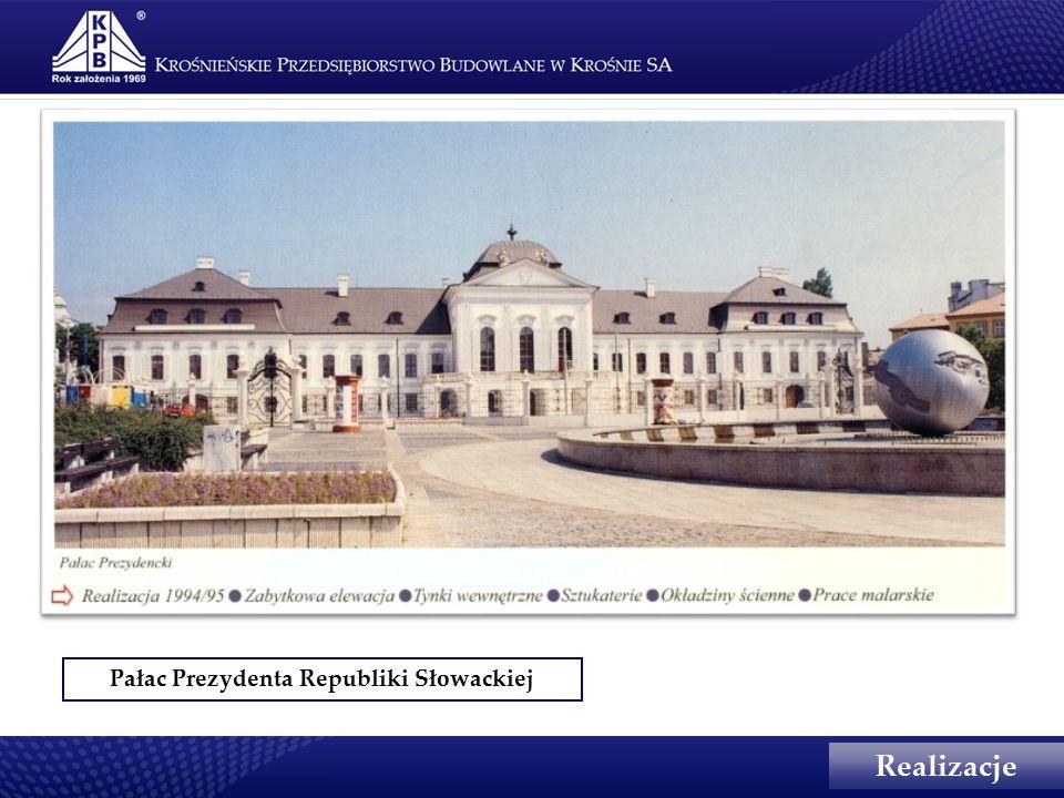 Pałac Prezydenta Republiki Słowackiej Realizacje