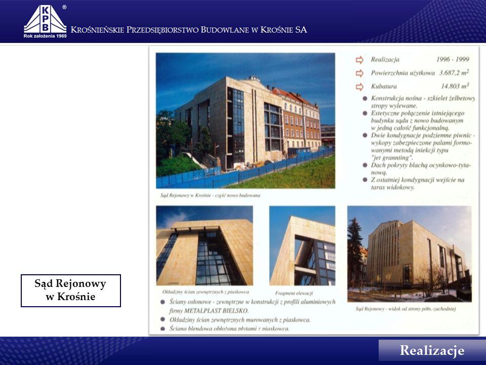 Sąd Rejonowy w Krośnie Realizacje