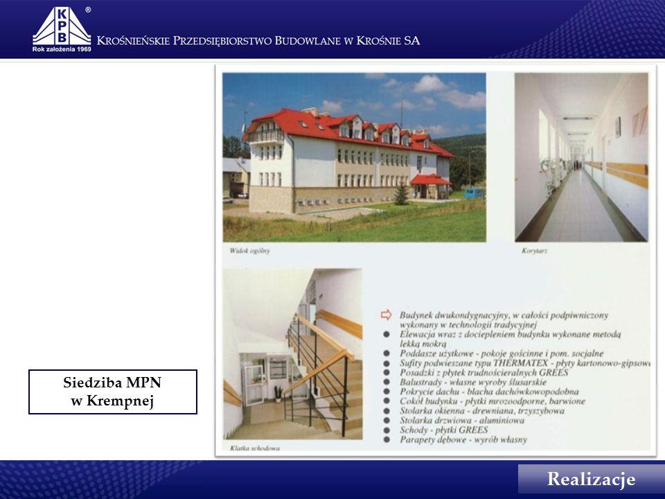 Siedziba MPN w Krempnej Realizacje