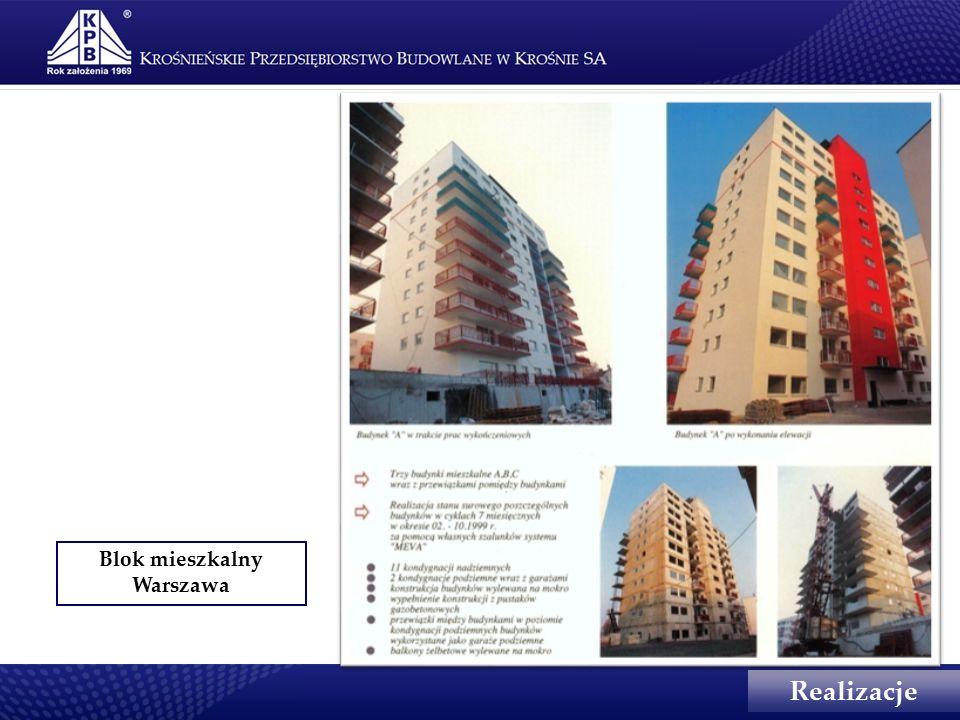 Blok mieszkalny Warszawa Realizacje