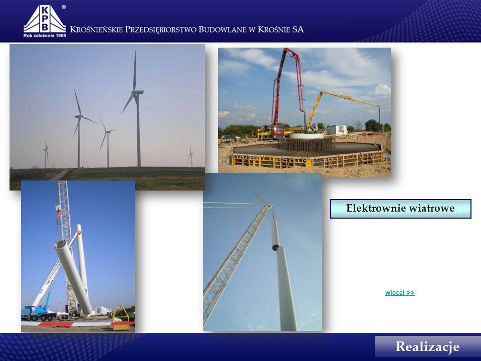 Realizacje Elektrownie wiatrowe więcej >>