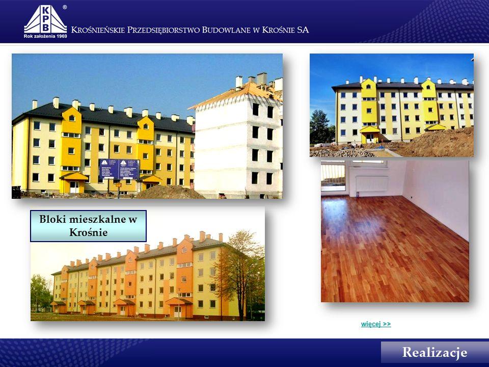 Realizacje Bloki mieszkalne w Krośnie więcej >>