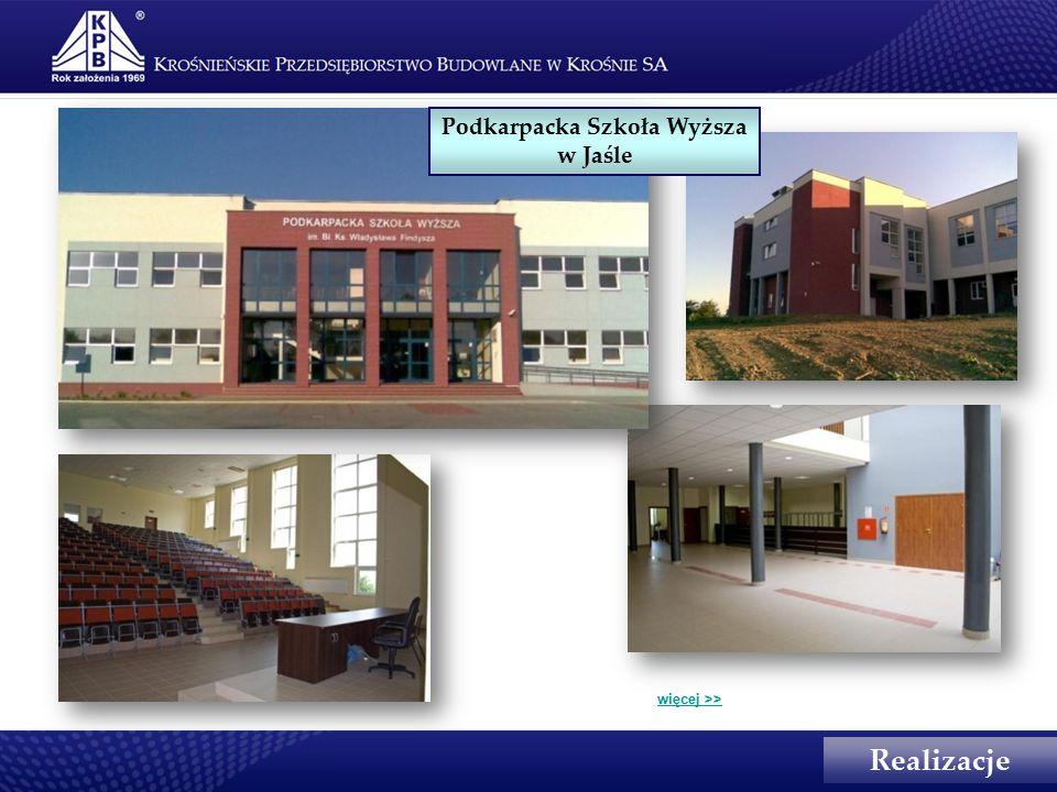Realizacje Podkarpacka Szkoła Wyższa w Jaśle więcej >>