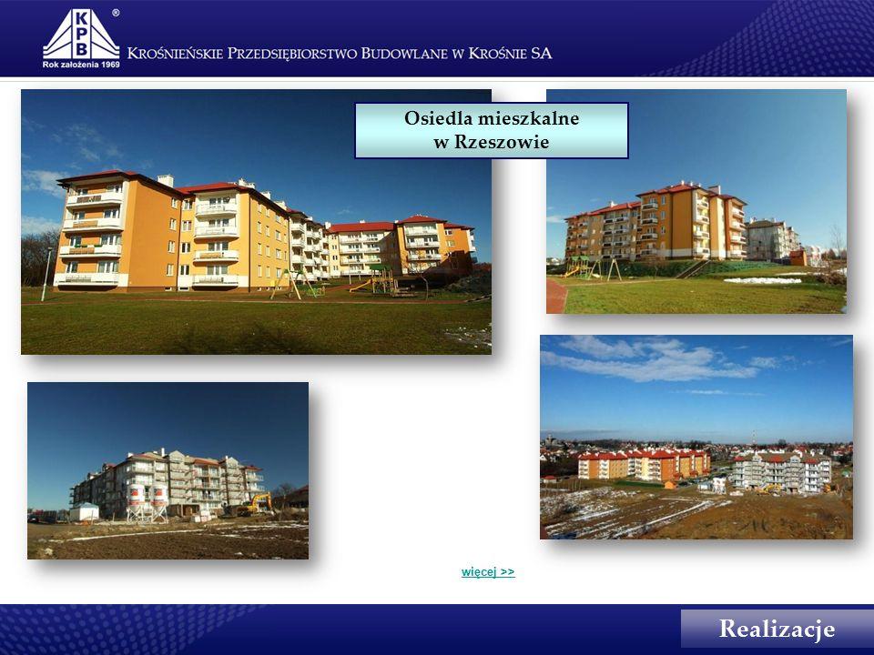 Realizacje Osiedla mieszkalne w Rzeszowie więcej >>