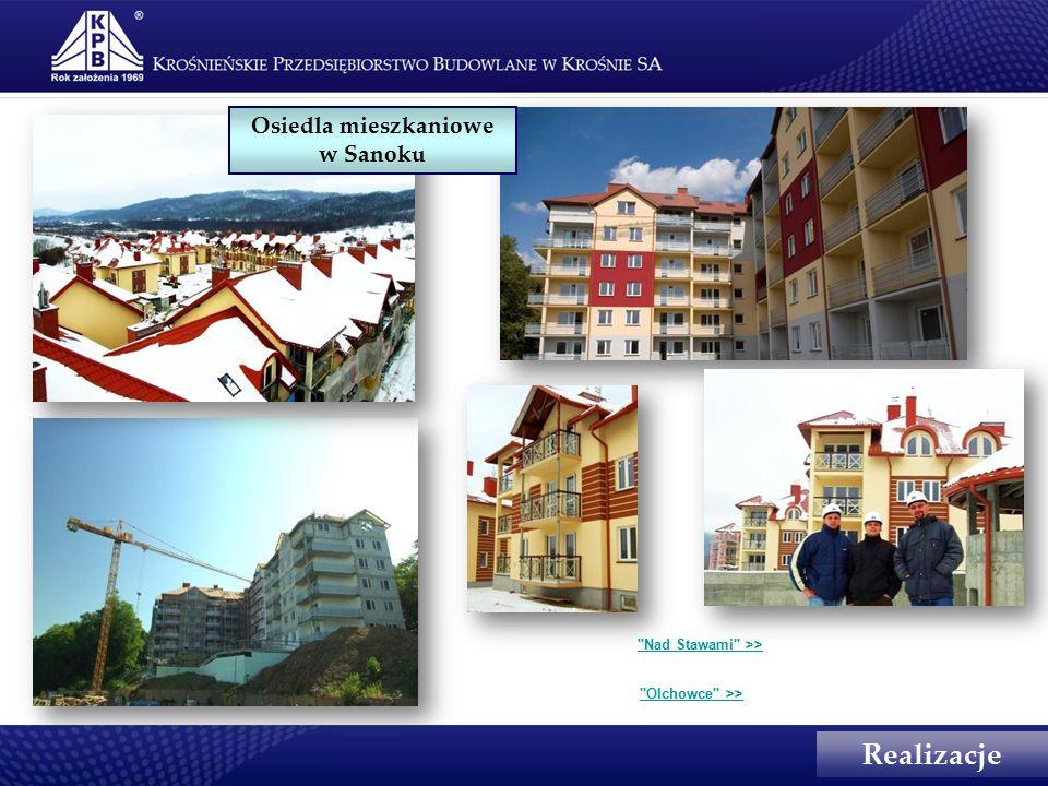 Realizacje Osiedla mieszkaniowe w Sanoku Nad Stawami >> Olchowce >>