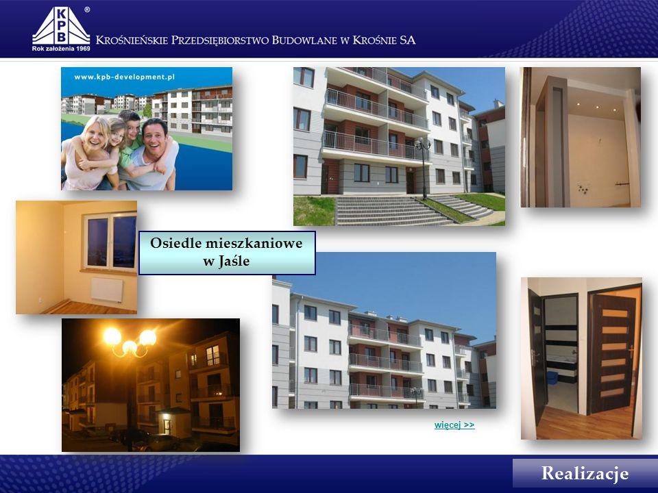 Realizacje więcej >> Osiedle mieszkaniowe w Jaśle