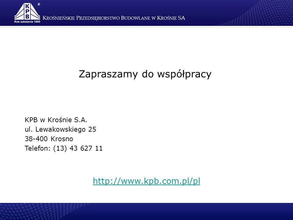 Zapraszamy do współpracy KPB w Krośnie S.A. ul.