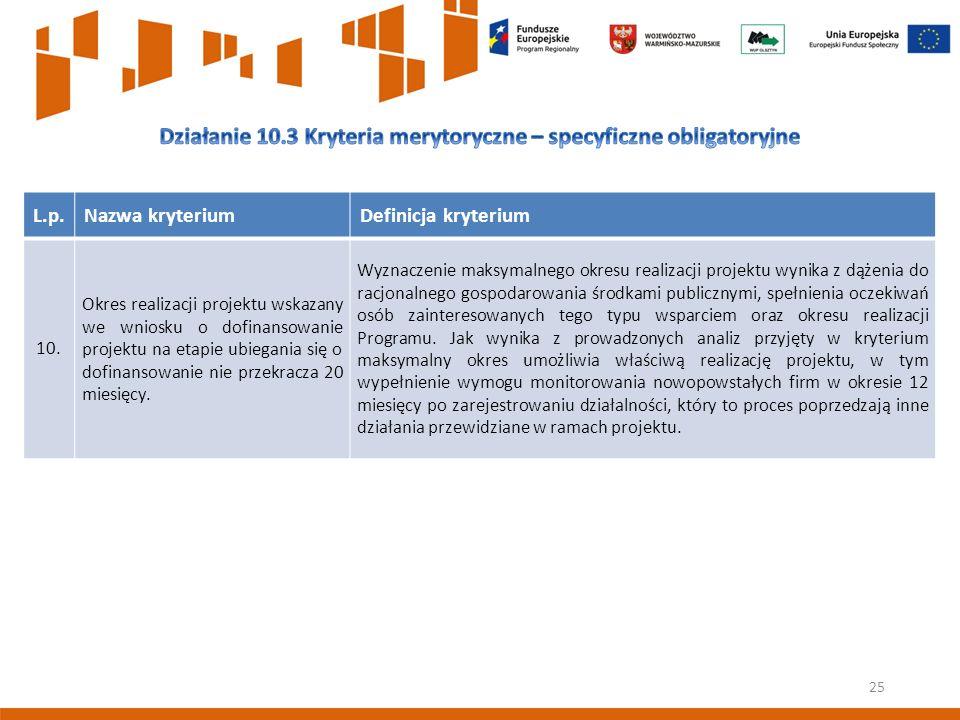 25 L.p.Nazwa kryteriumDefinicja kryterium 10.
