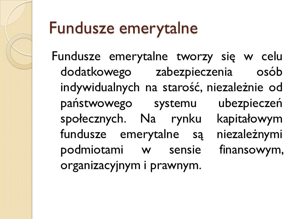 Fundusze inwestycyjne Fundusze inwestycyjne - to instytucje finansowe, które lokują powierzone sobie pieniądze w przedsięwzięcia mające przynosić zysk, przede wszystkim na rynkach finansowych.