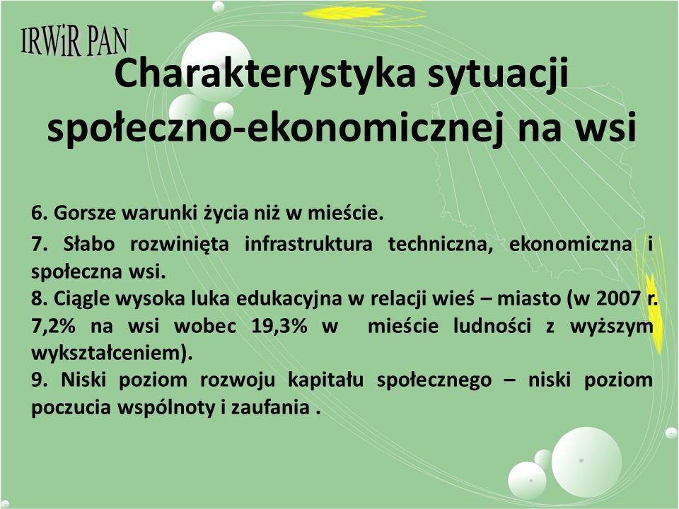 Charakterystyka sytuacji społeczno-ekonomicznej na wsi 6.