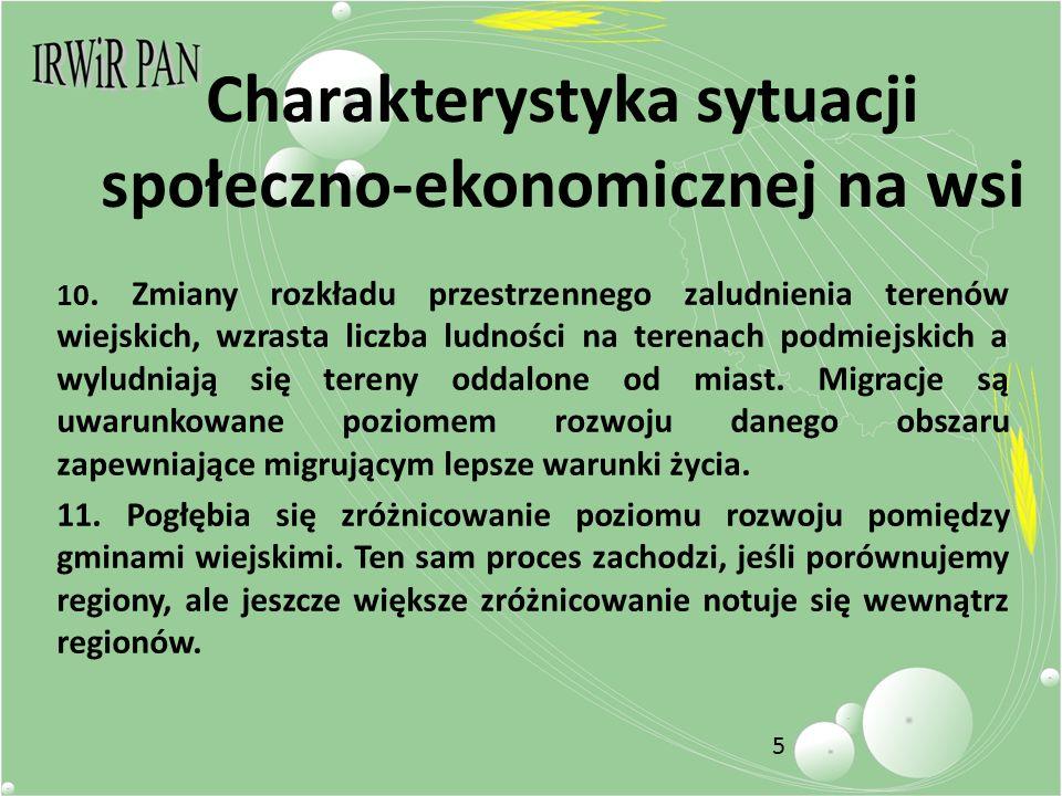 5 Charakterystyka sytuacji społeczno-ekonomicznej na wsi 10.