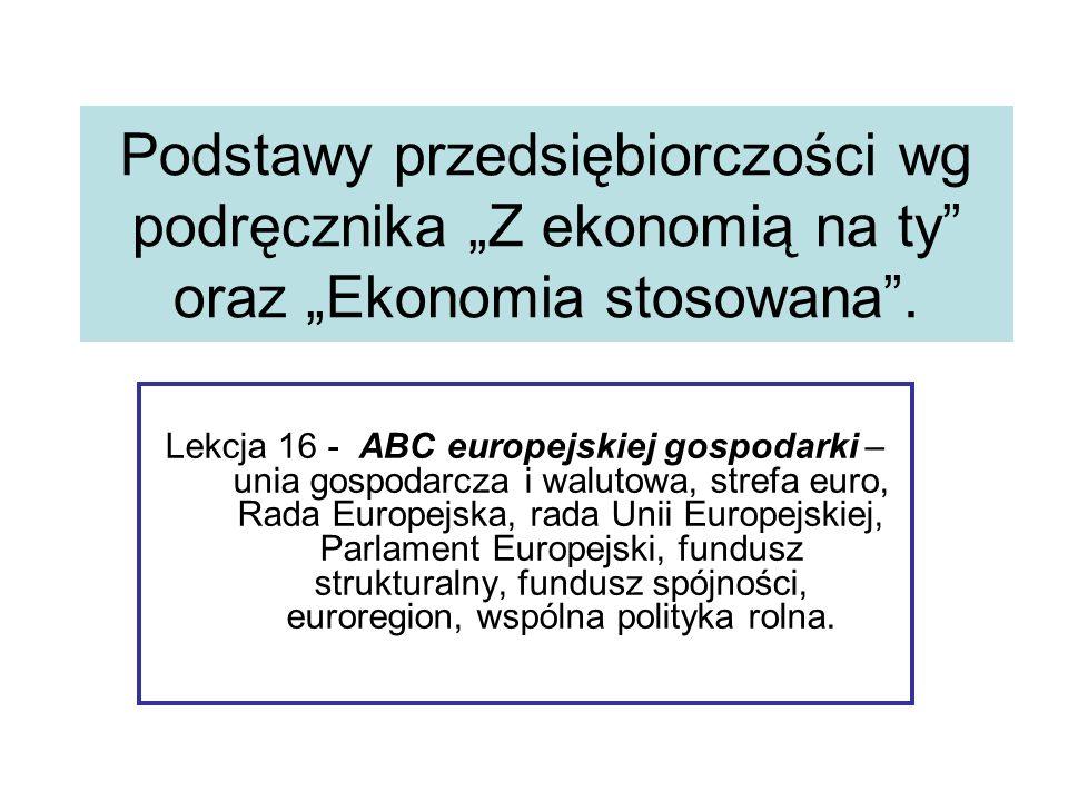 Europejskie Fundusze i programy.