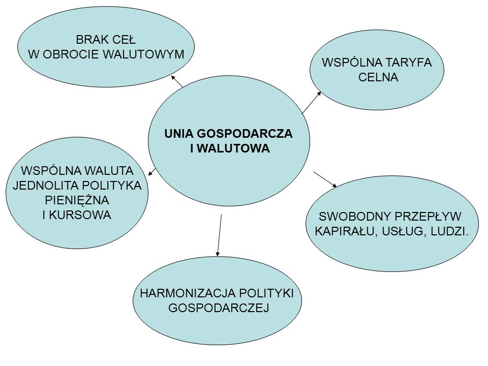 STREFA EURO Strefę tę tworzą wszystkie państwa UE, które przyjęły wspólną walutę i przystąpiły do Unii Gospodarczej i Walutowej (w roku 2002 było ich 12).