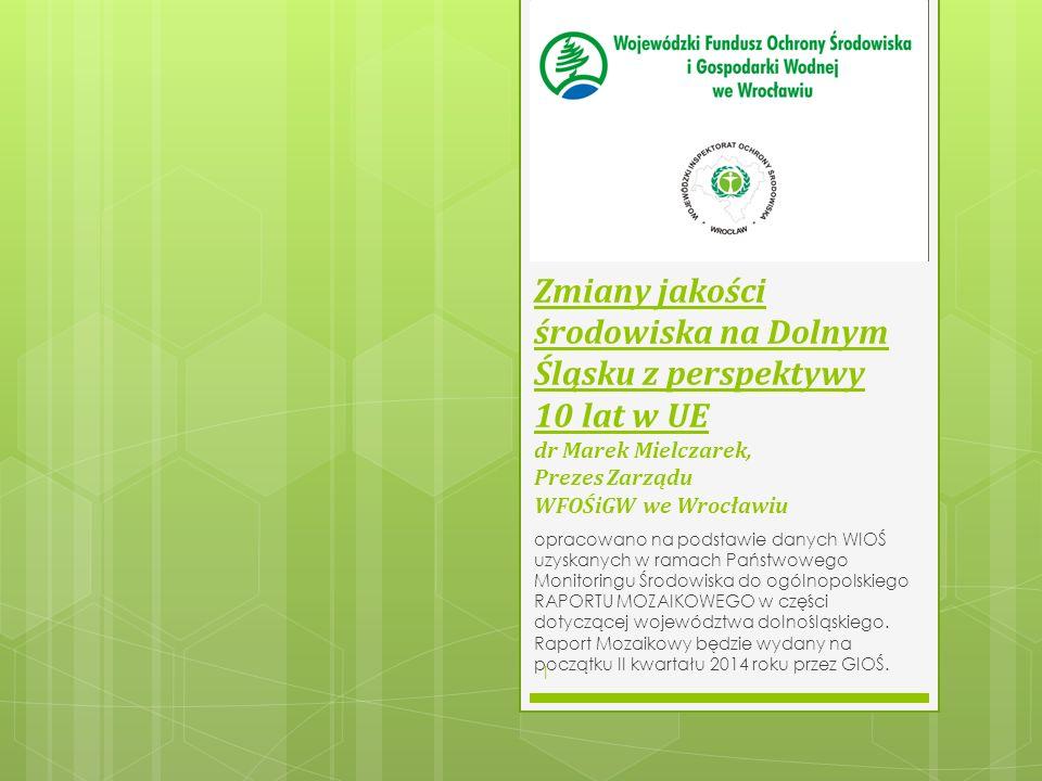 Perspektywa Finansowa 2007 - 2013 : projekty środowiskowe na Dolnym Śląsku (wartość ok.