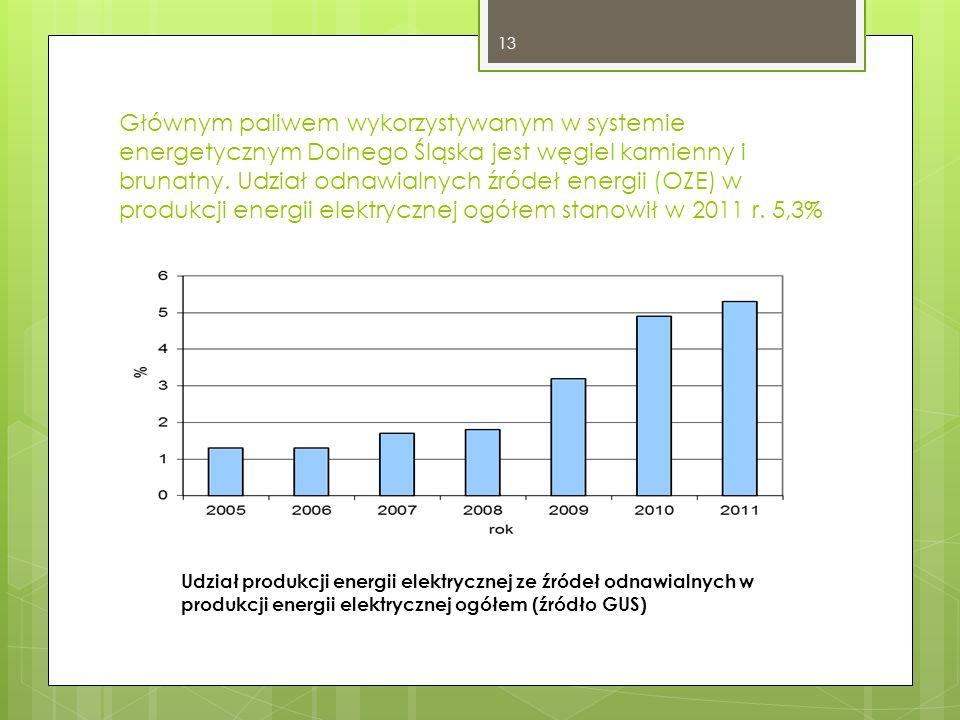 Głównym paliwem wykorzystywanym w systemie energetycznym Dolnego Śląska jest węgiel kamienny i brunatny.