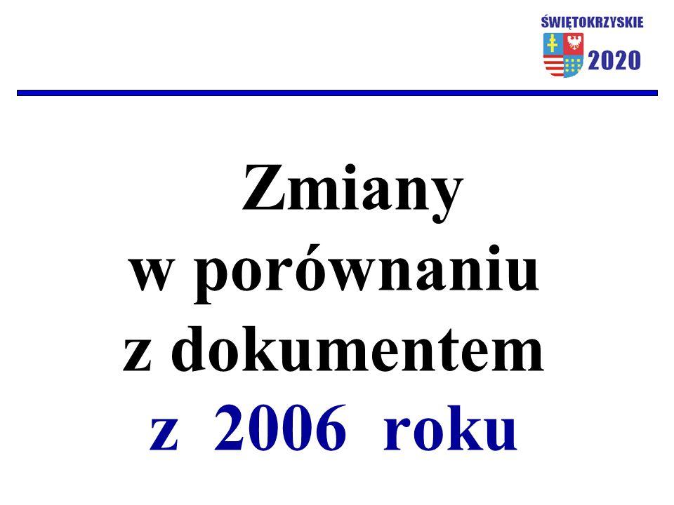 Zmiany w porównaniu z dokumentem z 2006 roku