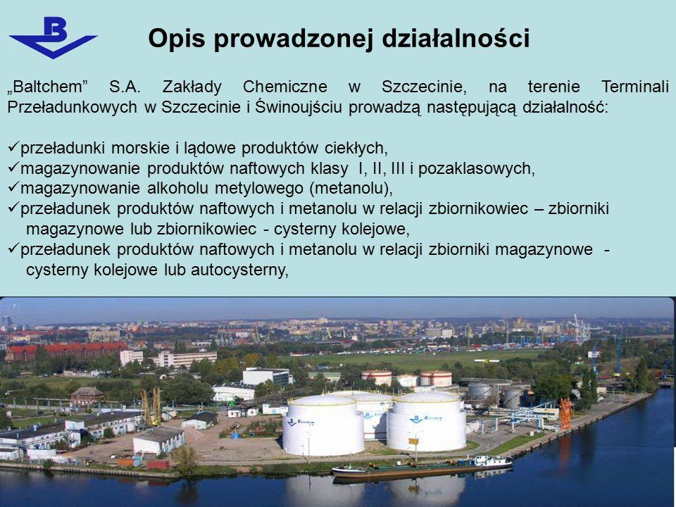 Rodzaje zagrożeń jakie mogą wystąpić na terenie Terminalu Przeładunkowego w Szczecinie przy ul.