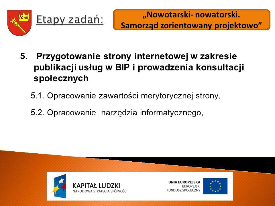 """""""Nowotarski- nowatorski.Samorząd zorientowany projektowo 5."""