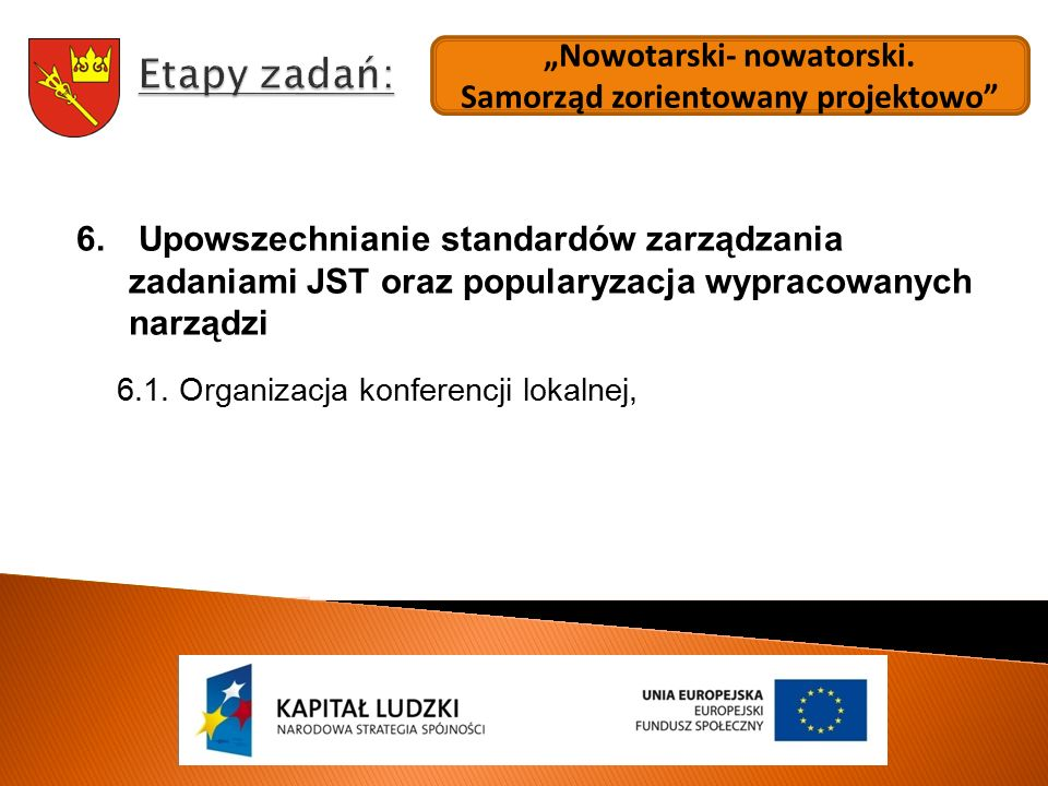 """""""Nowotarski- nowatorski.Samorząd zorientowany projektowo 6."""