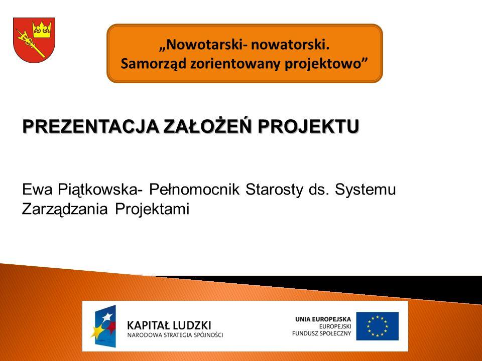 """""""Nowotarski- nowatorski. Samorząd zorientowany projektowo Ewa Piątkowska- Pełnomocnik Starosty ds."""
