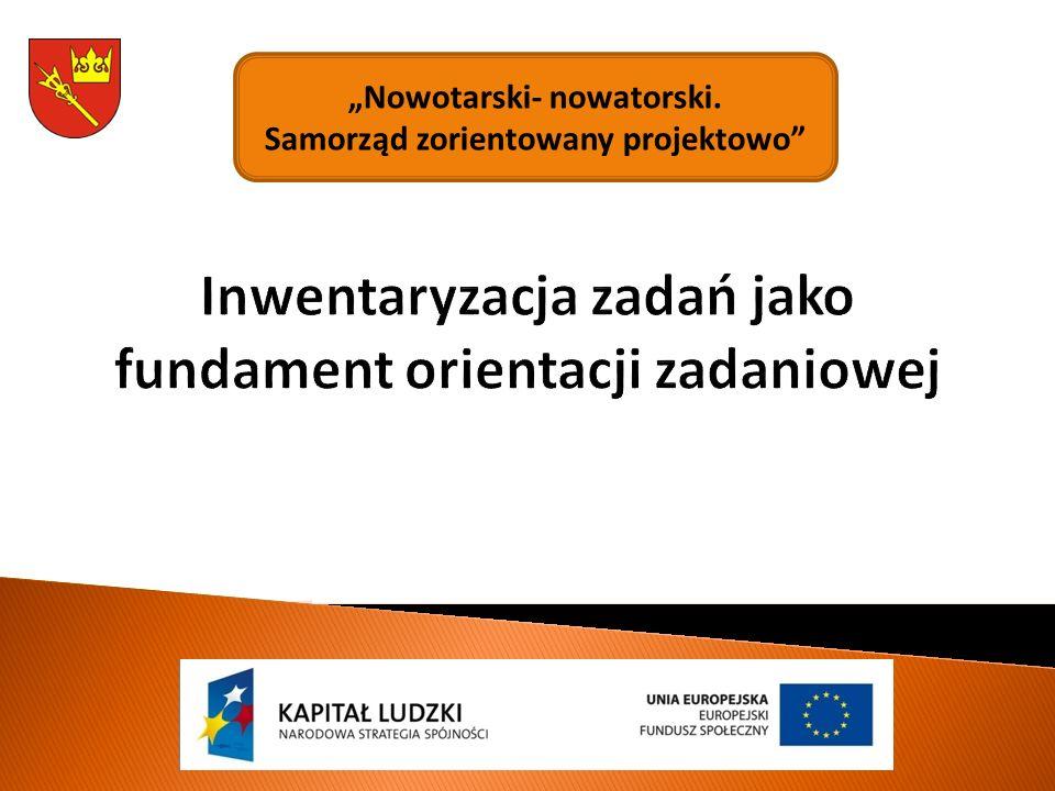 """Inwentaryzacja zadań jako fundament orientacji zadaniowej """"Nowotarski- nowatorski."""