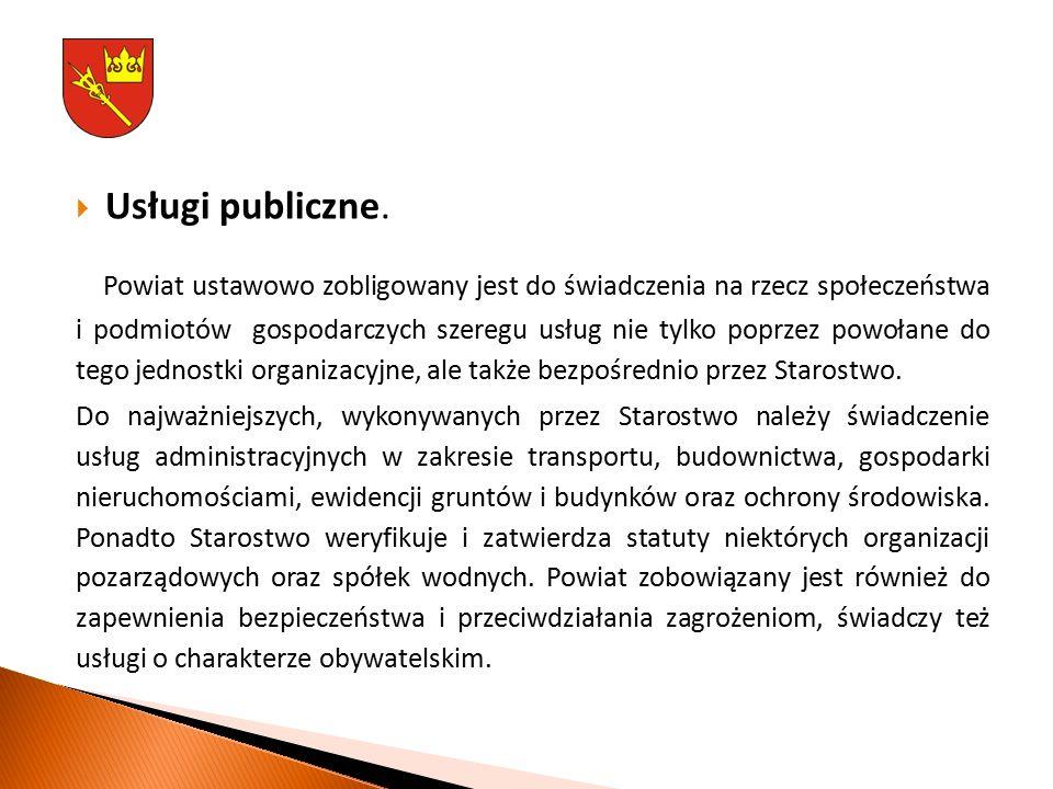  Usługi publiczne.