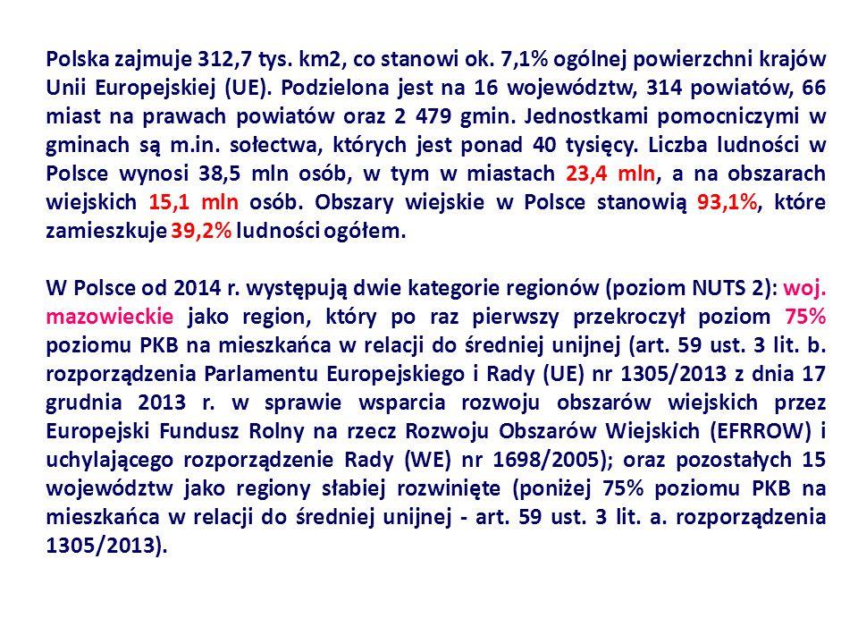 Polska zajmuje 312,7 tys. km2, co stanowi ok.