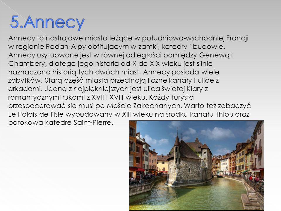 Annecy to nastrojowe miasto leżące w południowo-wschodniej Francji w regionie Rodan-Alpy obfitującym w zamki, katedry i budowle.