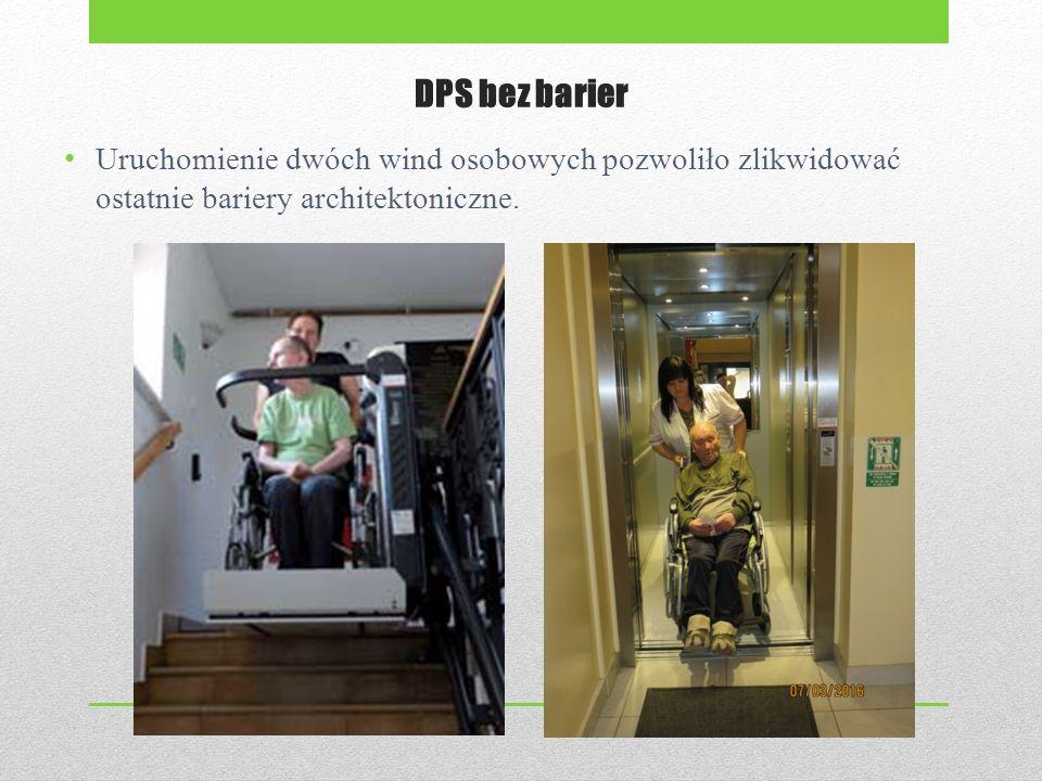 DPS bez barier Uruchomienie dwóch wind osobowych pozwoliło zlikwidować ostatnie bariery architektoniczne.