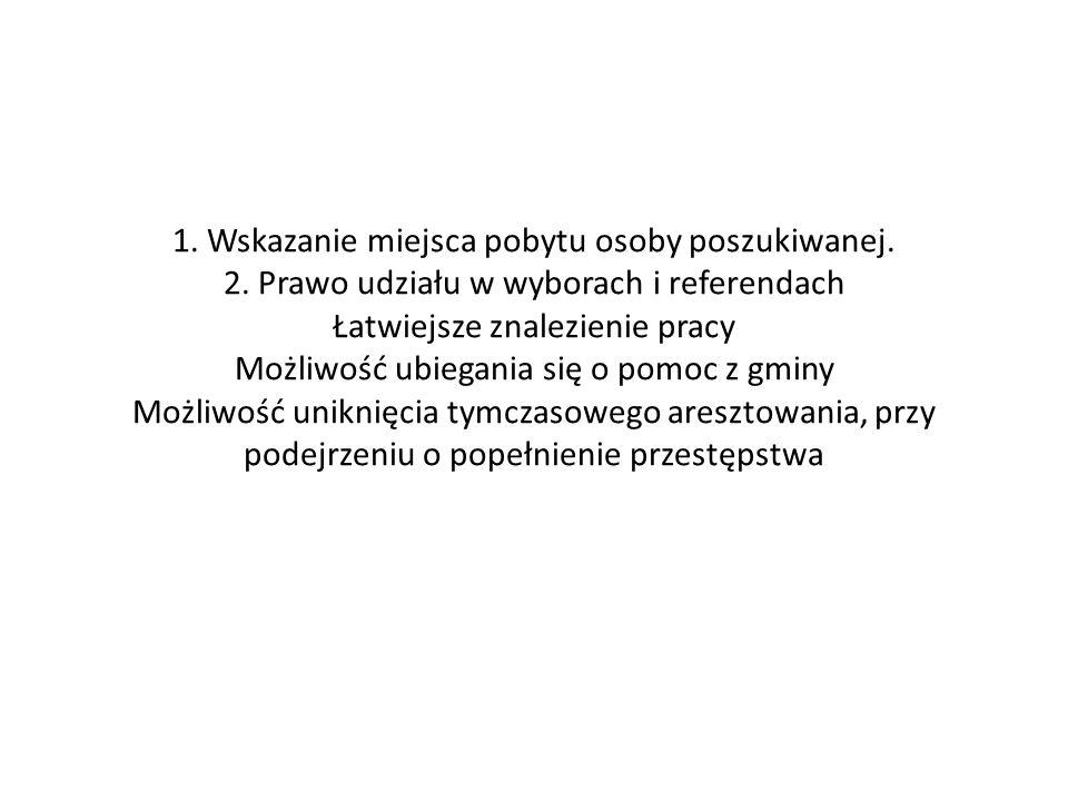 OBOWIĄZEK MELDUNKOWY 1.Zameldowania dokonuje się w wydziale spraw obywatelskich urzędu gminy 2.Wymagane dokumenty: a)Dowód osobisty b) Osoba niepełnoletnia – skrócony odpis aktu urodzenia 3.