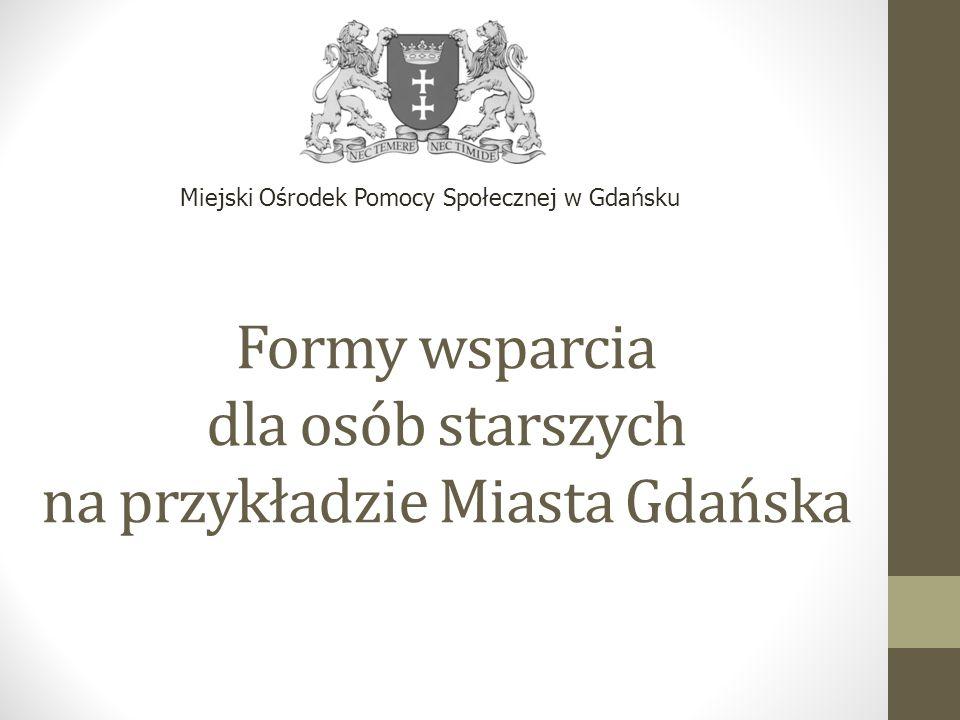 Formy wsparcia dla osób starszych na przykładzie Miasta Gdańska Miejski Ośrodek Pomocy Społecznej w Gdańsku