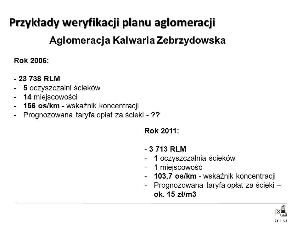 Rok 2006: - 23 738 RLM -5 oczyszczalni ścieków -14 miejscowości -156 os/km - wskaźnik koncentracji -Prognozowana taryfa opłat za ścieki - ?? Rok 2011: