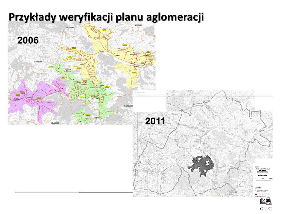 2011 2006 Przykłady weryfikacji planu aglomeracji