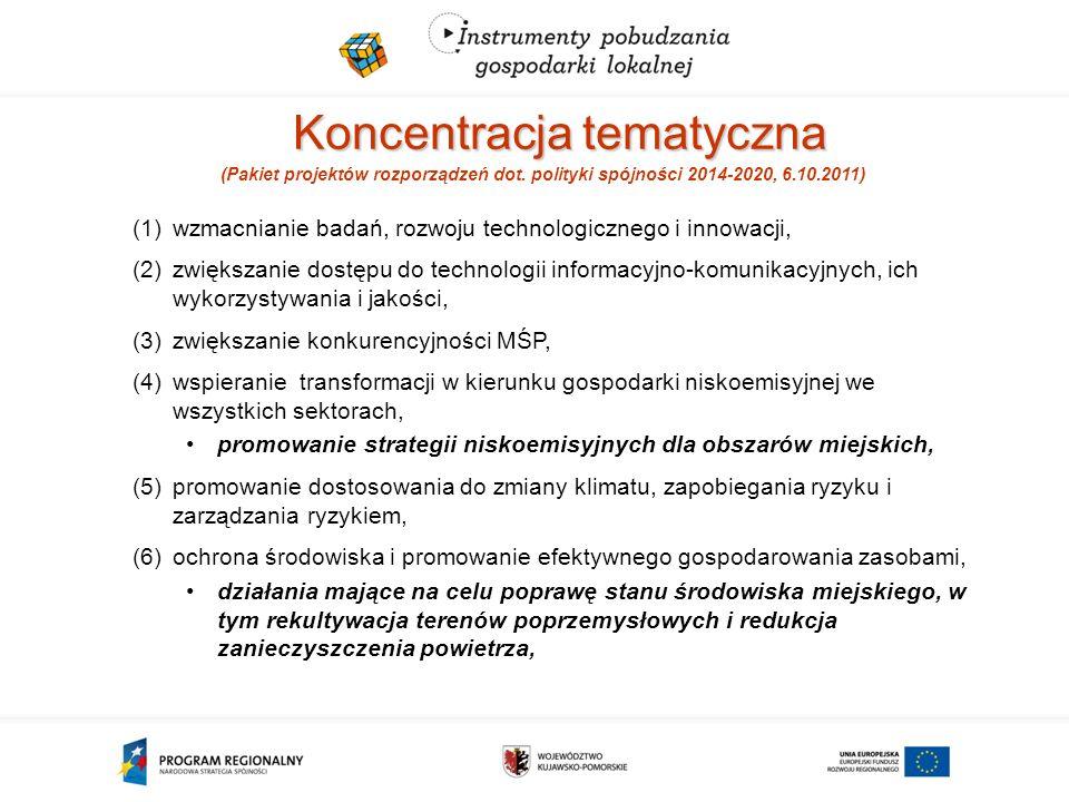 Koncentracja tematyczna (Pakiet projektów rozporządzeń dot.