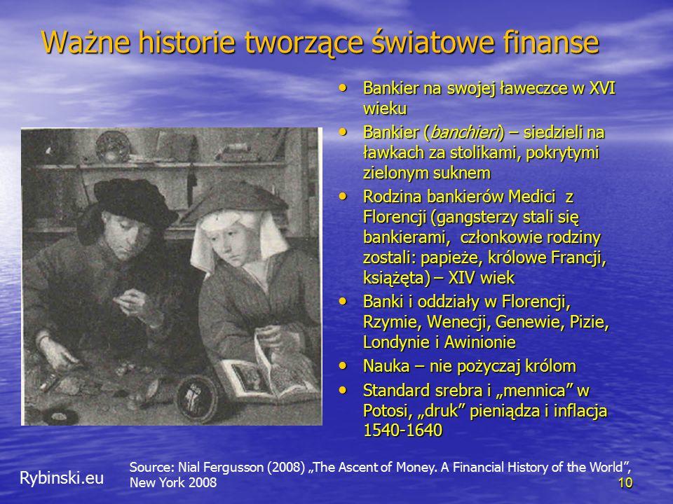 Rybinski.eu Ważne historie tworzące światowe finanse Bankier na swojej ławeczce w XVI wieku Bankier na swojej ławeczce w XVI wieku Bankier (banchieri)