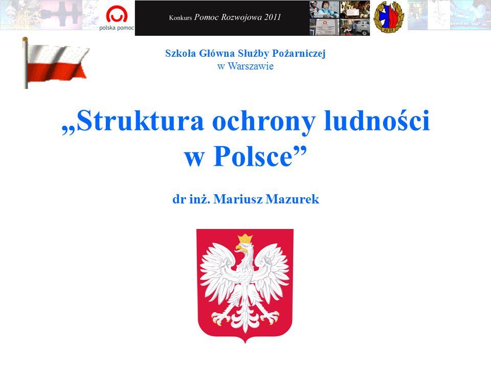 """""""Struktura ochrony ludności w Polsce dr inż."""