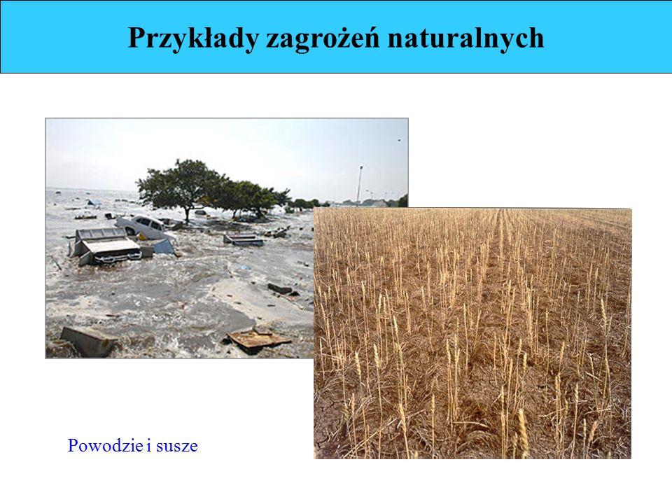 Przykłady zagrożeń naturalnych Powodzie i susze