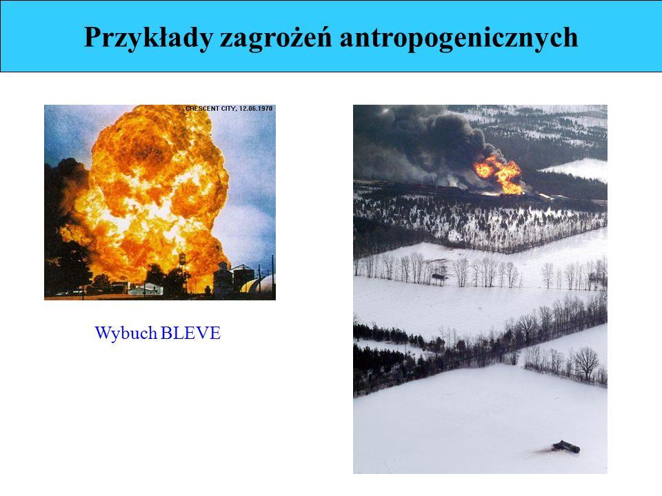 Przykłady zagrożeń antropogenicznych Wybuch BLEVE